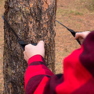 Pocket Chainsaw being Used on Tree