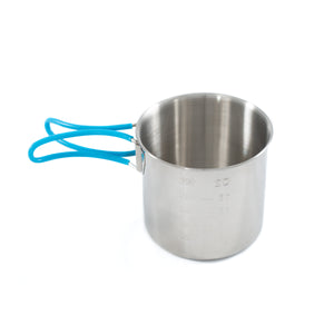 Camp cup with handles folded out