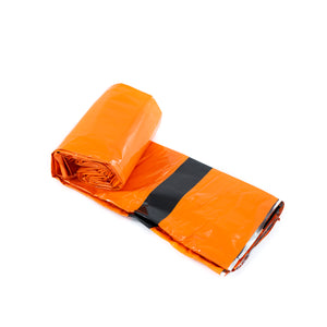 orange bivy partially rolled up