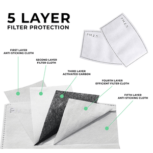 Activated Carbon PM2.5 Filter for Cloth Face Masks - 12 Pack by Frog & CO