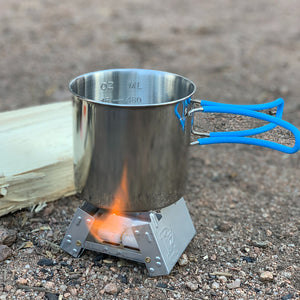 Pocket Stove Folding Camping Stove with Hex Fuel Tablets by Frog & CO