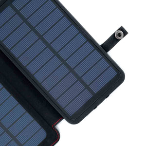 QuadraPro Solar Power Bank close up on corner