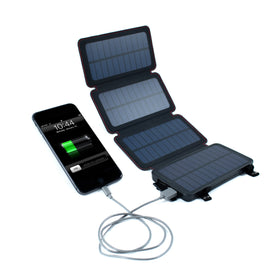 QuadraPro Solar Power Bank with Wireless & Dual USB Charging by Frog & CO