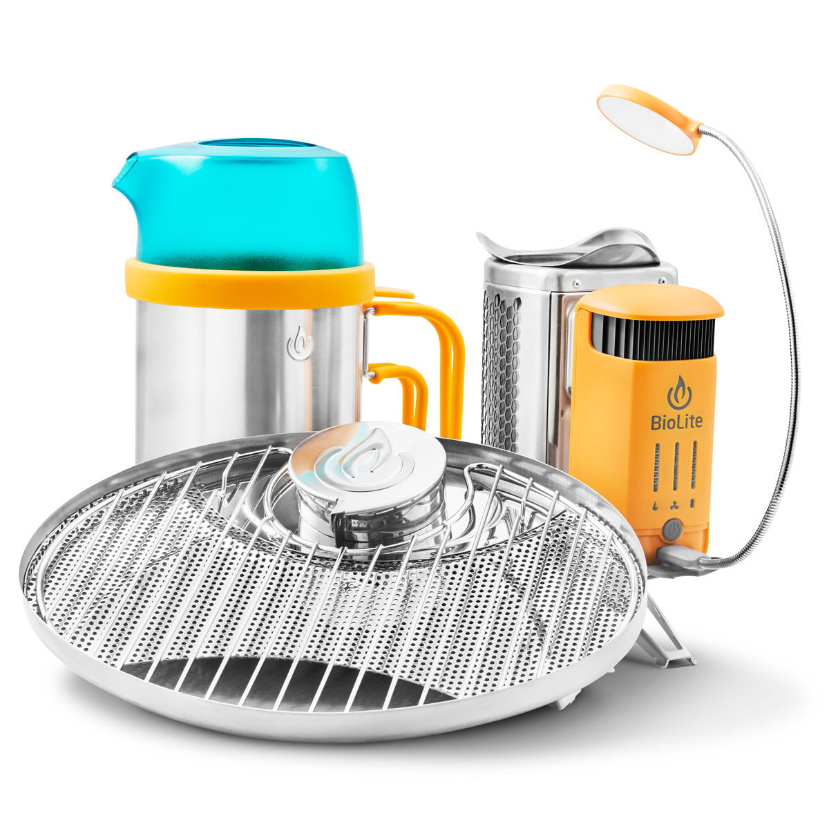 Campstove 2, Flexlight, Portable Grill, Kettlepot Survival Gear Combo By Biolite