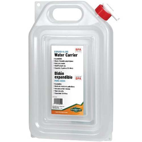 2 Gallon ''Expand-A-Jug'' Water Carrier - Survival Frog