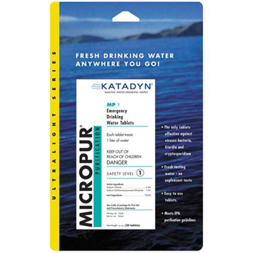Micropur Water Purification Tablets 20-Pack By Liberty Mountain
