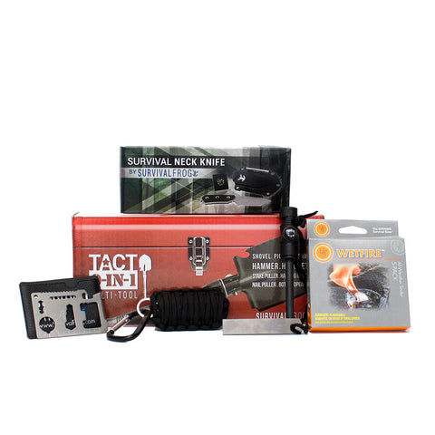 Disaster Survival Essentials Kit with Neck Knife
