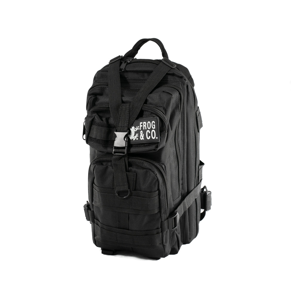 Water Resistant Tactical Backpack By Frog & Co. / Black