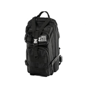Black Tactical Backpack front