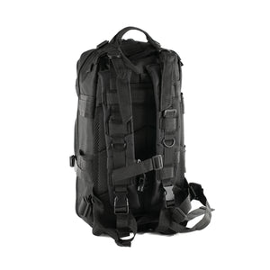 Black Tactical Backpack showing back