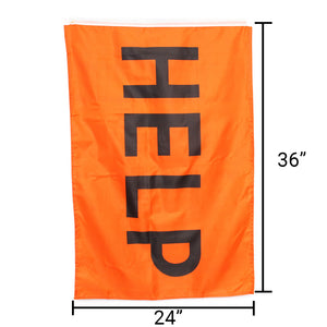 Orange Help Flag - Survival Frog