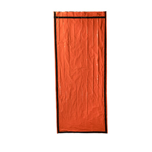 orange bivy flat and open
