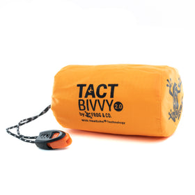 Tact Bivvy® 2.0 Emergency Sleeping Bag w/ HeatEcho®  Technology, Paratinder, & Whistle by Frog & CO