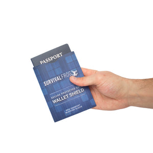 Safe Wallet Shield RFID Blocker for Passport - Survival Frog