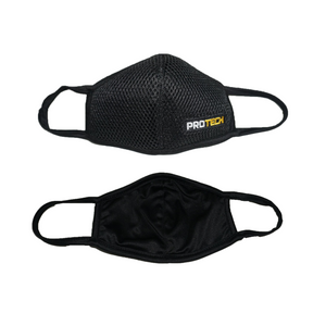 Protech™ Unisex Sports and Workout Face Mask, Comfy Fit, Moisture Wicking, Breathable