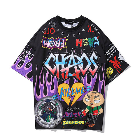 Graffiti Cartoon T-Shirt