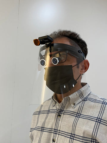 Loupes with Face Shield, Magnetic head light. Perfect for all doctors, nurses, dentists, tattoo artists.