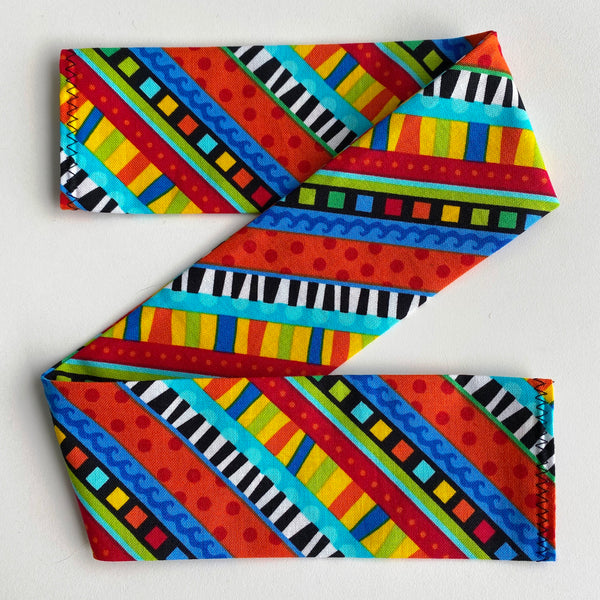 Cat Collar Cover - Cat Size - Diagonal multicoloured