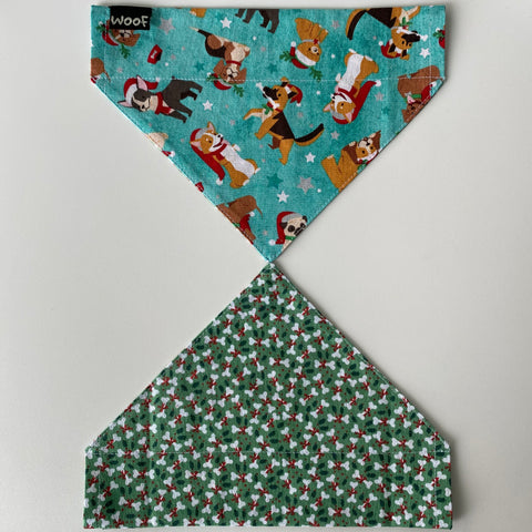 Dog Bandana - Over the collar style - Christmas