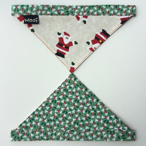 Dog Bandana - Tie on style - Christmas