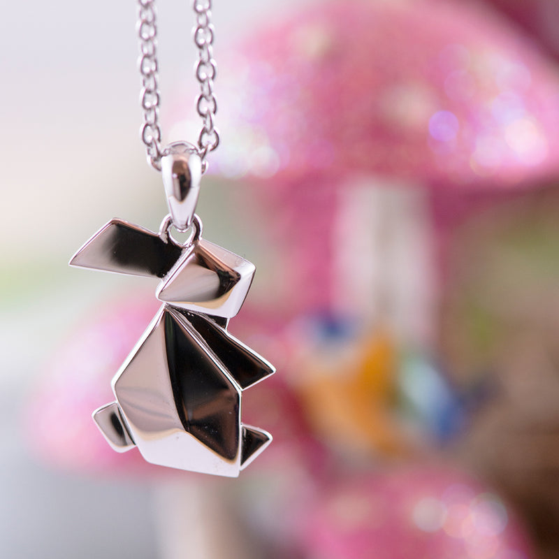 Origami Bunny Necklace
