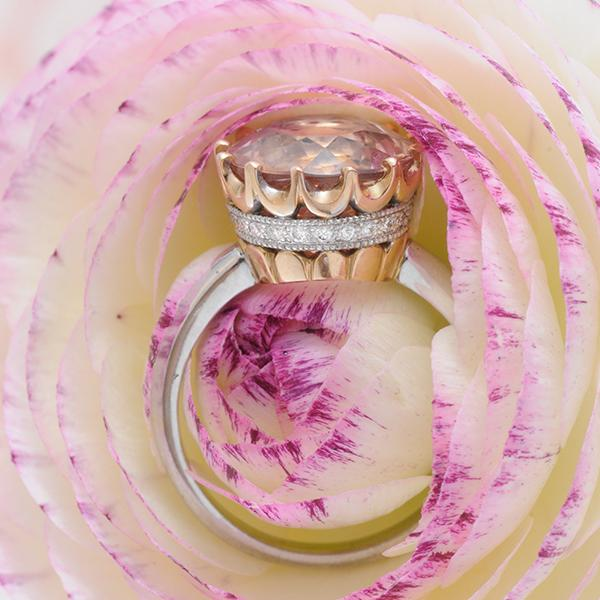 Camelot Morganite and Diamond Ring