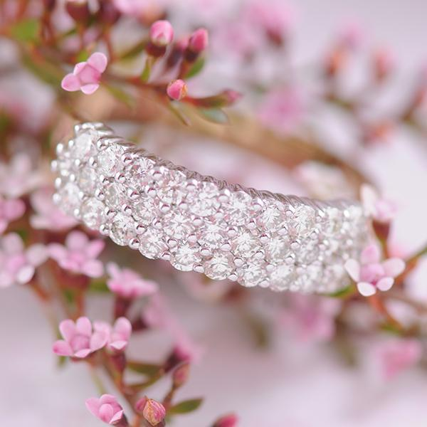 Diamond Three Band Ring