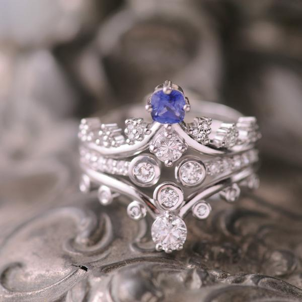Diamond and Sapphire Stacking Rings