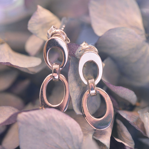 Double Oval Swinger Earrings