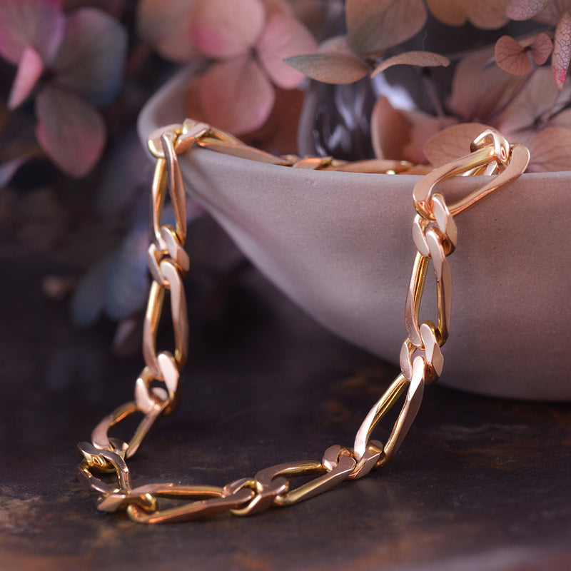 Open Link Chain Bracelet in 14k Yellow Gold