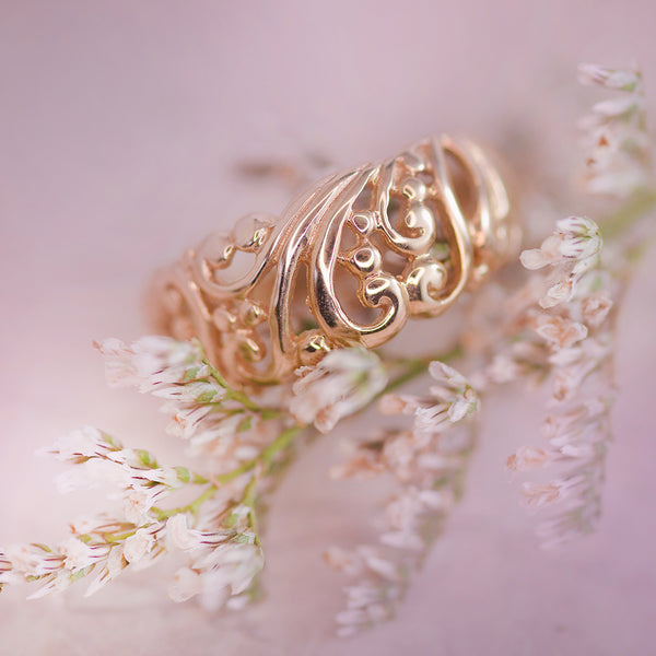 9K Yellow Gold Filigree Ring