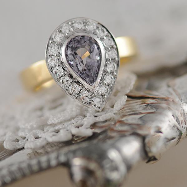 Grey Spinel Dress Ring