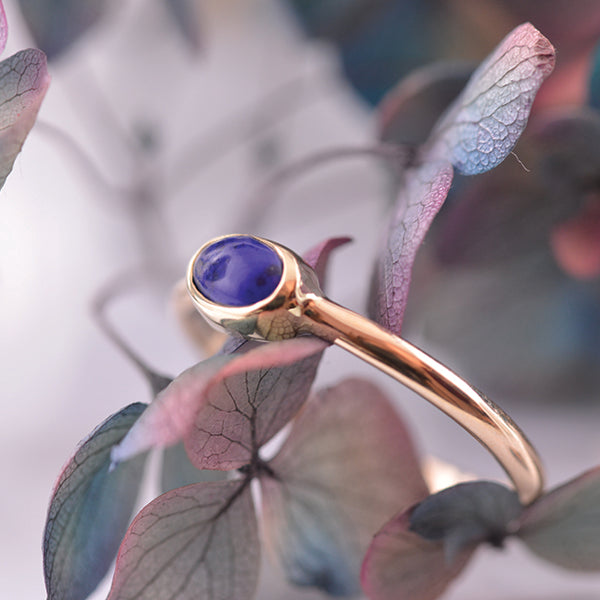 Lapis Lazuli 9ct Yellow Gold Blue Gemstone Ring