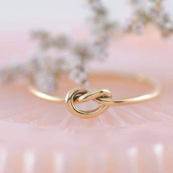 Love Knot Ring 9k Yellow Gold