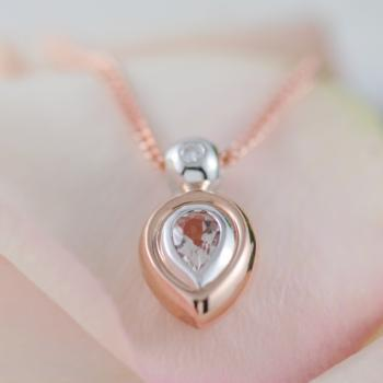 Morganite Diamond Pendant