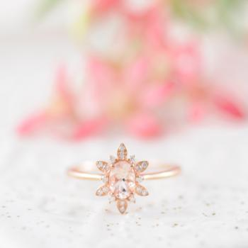 Morganite Star Ring