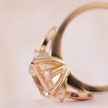 "Morganite and Diamond Ring in 18k Rose Gold - the ""Kimberly"""