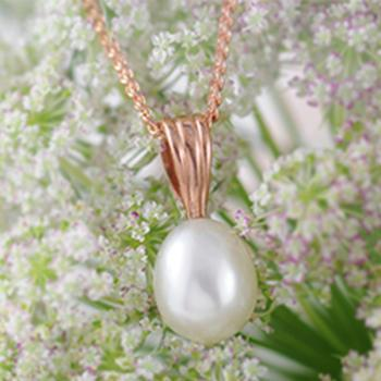 Pearl Pendant Set in 9k Rose Gold