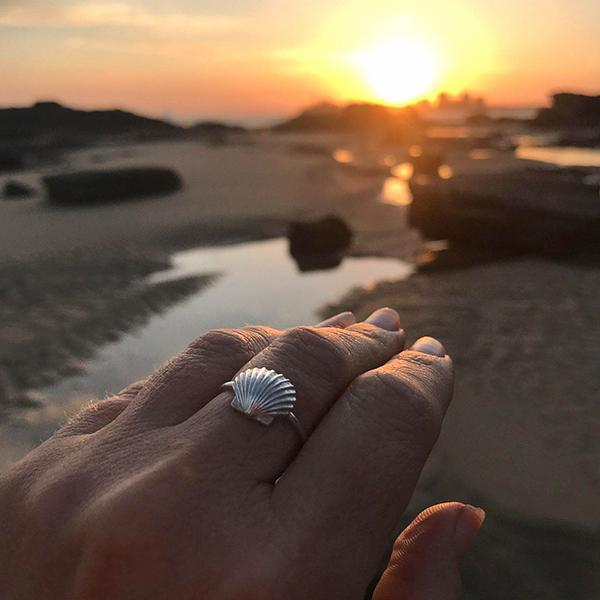 Seashell Sterling Silver Coast Ring