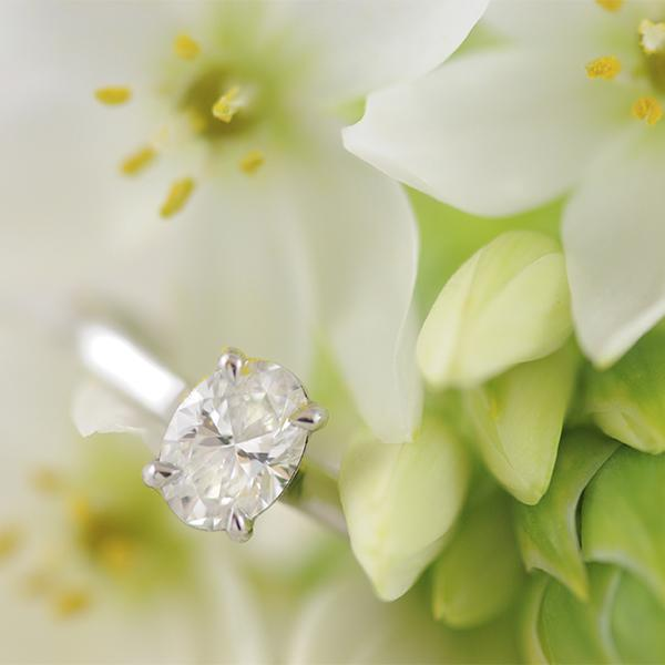 Solitaire Diamond Ring - Oval Diamond