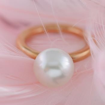 South Sea Pearl 9ct Rose Gold Ring
