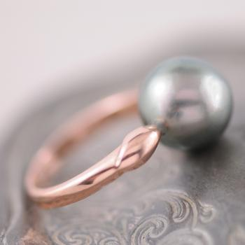 Tahitian Pearl Rose Gold Ring