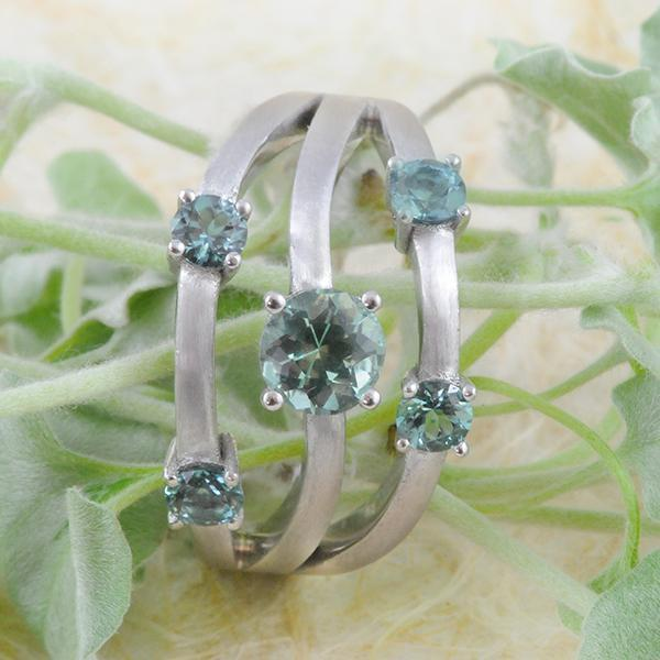 Tourmaline Multi Band Ring