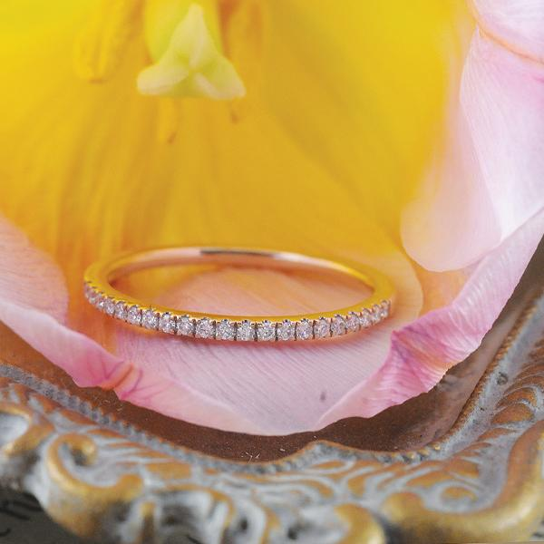 Diamond Wedder Ring in 9ct Rose Gold