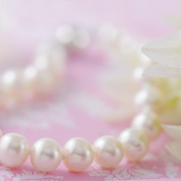 White round Fresh Water Pearl Bracelet Sterling Silver Clasp