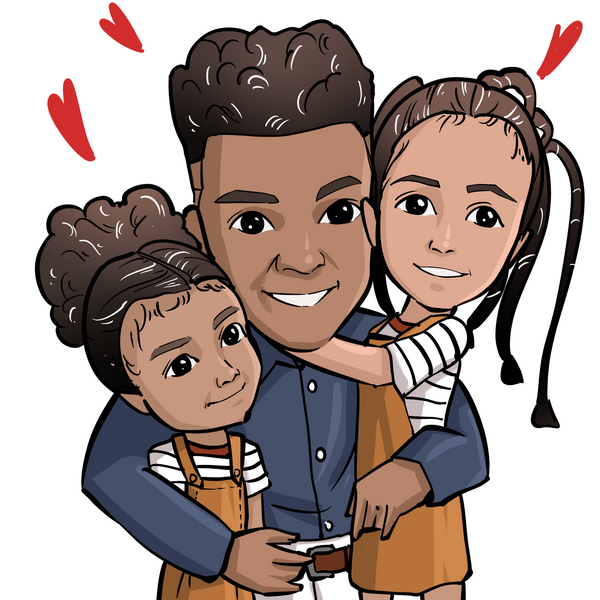 Cartoon Family Portrait, Couple Portrait, Custom Gift - Nouveau Design Studio