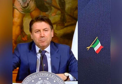 President G. Conte wears a Talarico Tie during the live broadcast