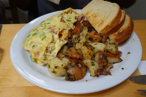 Linguica and Jack Cheese Omelette