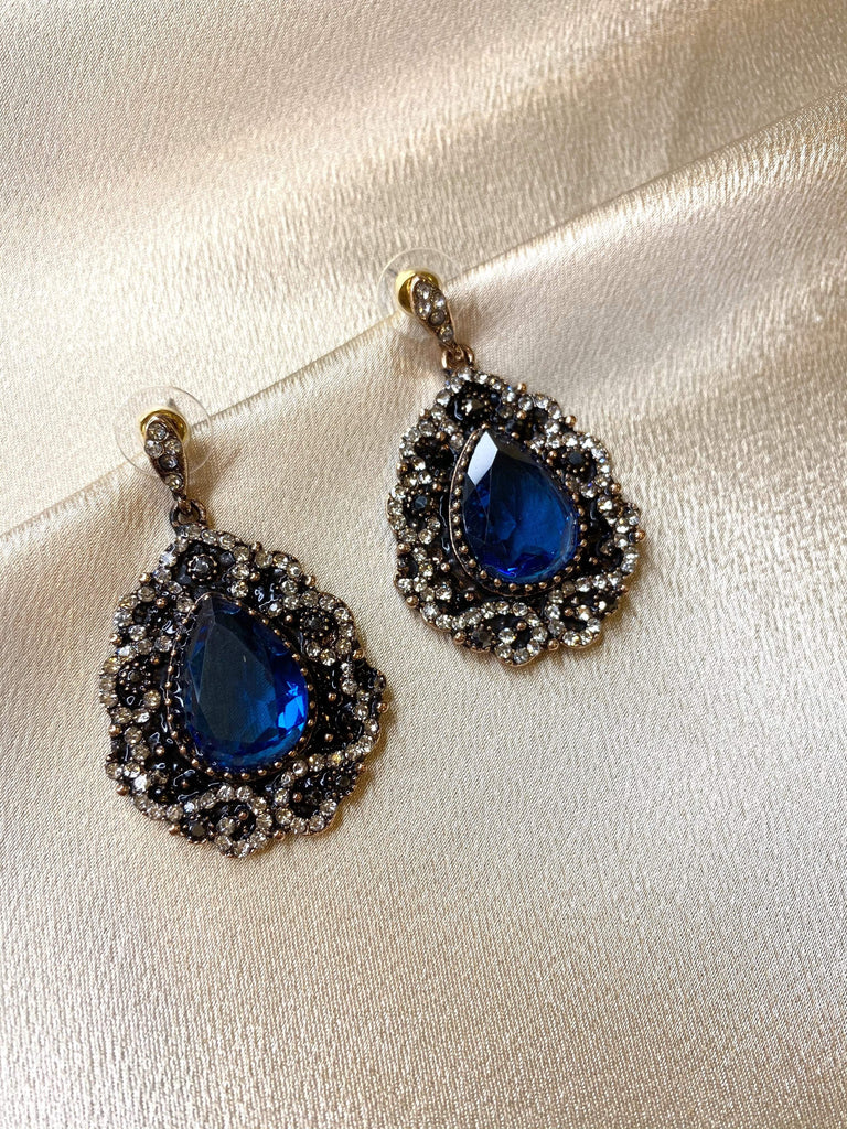 Blue moon earrings - Kabayare Fashion