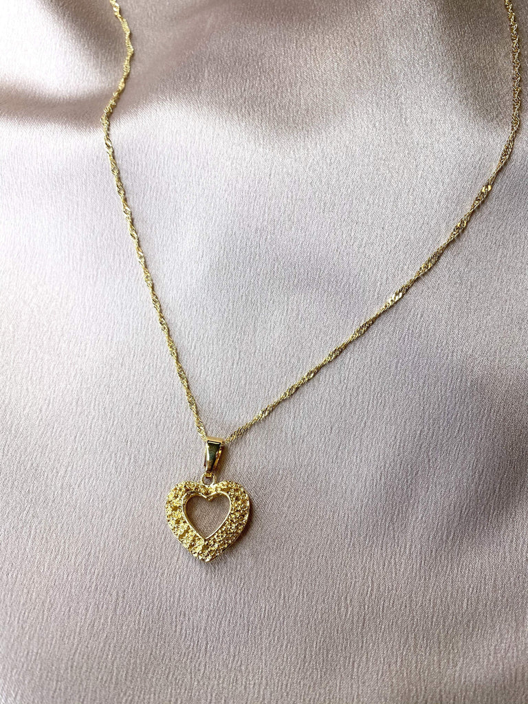 gold Heart Necklace - Kabayare Fashion